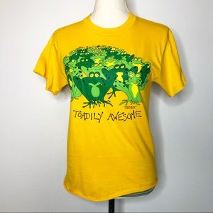 Vintage Toadily Awesome Graphic Cropped Tee S